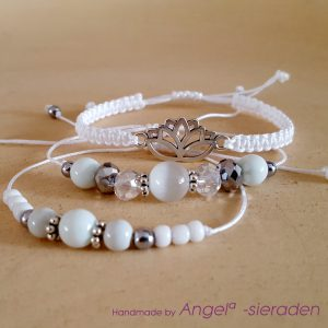 armbandenset lotus white