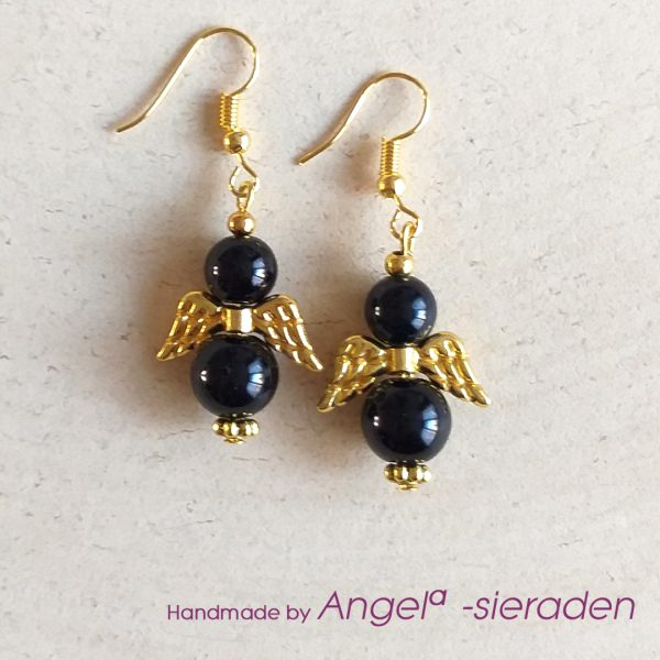 oorbellen black angel engel