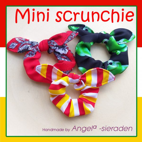 mini scrunchie met strik oeteldonk