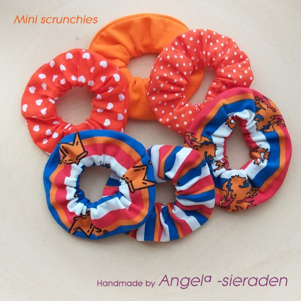 mini scrunchies koningsdag
