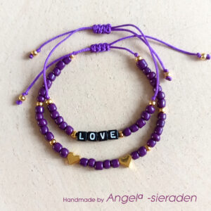armbandjes set purple