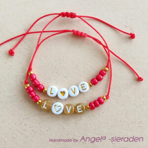 armbandenset love rood